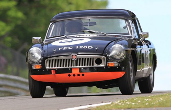 MGB race car Brands Hatch